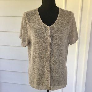 NORTON McNAUGHTON button down sweater